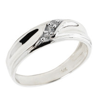 Men's Diamond Wedding Band in Sterling Silver
