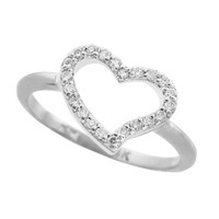 Sterling Silver CZ Heart Ring