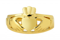 Ladies Gold Claddagh Ring