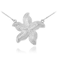 Sterling Silver CZ Starfish Necklace