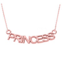 "14K Rose Gold  ""PRINCESS"" Pendant Necklace"