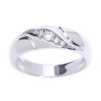 White Gold Men's Diamond Wedding Ring