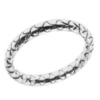 Sterling Silver Snake Skin Textured Band Ring