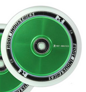Root Industries AIR Wheel 110mm - WHITE/GREEN www.krypticproscooters.com