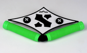 Sacrifice S GRIPS - FLURO GREEN  www.krypticproscooters.com