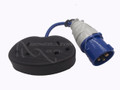 Flylead Male Blue 16 AMP 240V to  2x 13A UK IP44