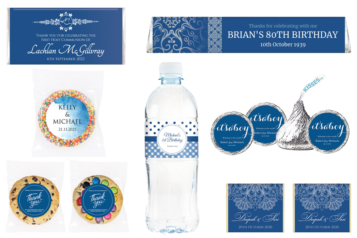 Classic Blue Favours For Weddings, Birthdays And More