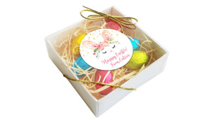 Perspective - Bunny Face Personalised Easter Egg Nest Box