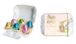 Beautiful Bunny Personalised Easter Egg Carton