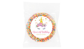 A Pretty Unicorn Birthday Personalised Chocolate Freckle