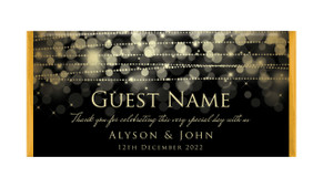 Gold Lights Personalised Wedding Chocolate Bars