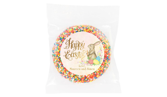 Beautiful Bunny Personalised Easter Giant Chocolate Freckles