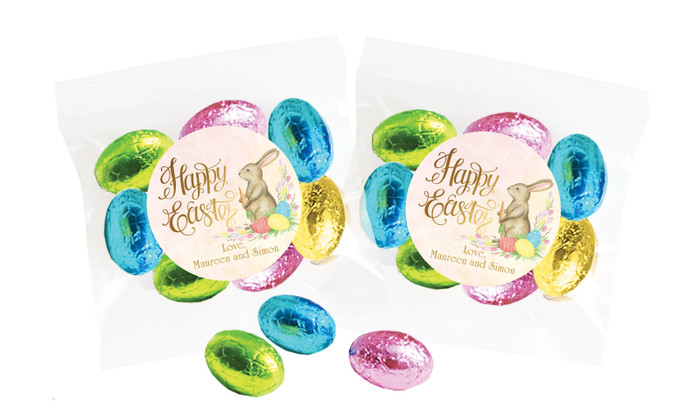 Beautiful Bunny Personalised Bag Of Easter Eggs