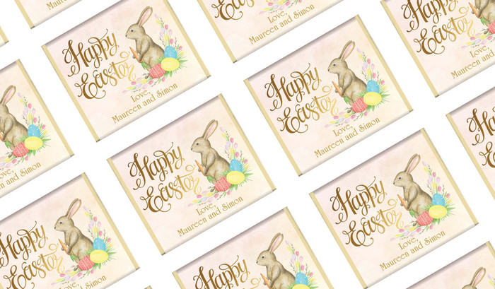 Beautiful Bunny Easter Personalised Mini Chocolates