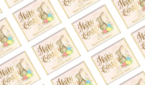 Beautiful Bunny Easter Personalised Mini Chocolates