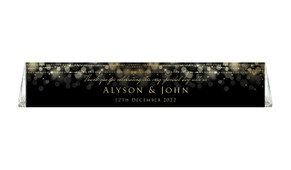 Gold Lights Wedding Personalised Toblerone Bar