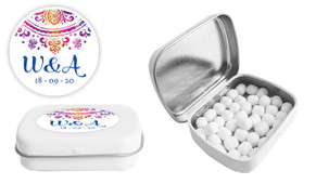 Radiant Mandala Wedding Personalised Mint Tin