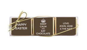 Keep Calm Custom Mini Chocolate Trio