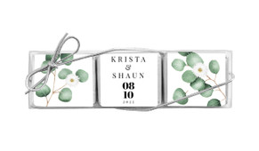 Eucalyptus Custom Mini Chocolate Trio Wedding Favour