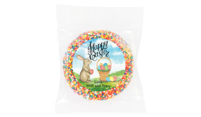 Bunny And Basket Personalised Easter Giant Chocolate Freckles