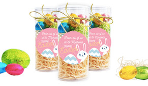 Funny Bunny Personalised Easter Egg Tube