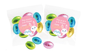 Funny Bunny Personalised Bag Of Easter Eggs