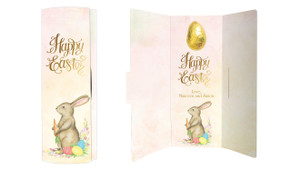 Beautiful Bunny Personalised Easter Chocolate Card