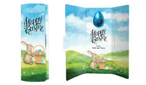 Bunny And Basket Personalised Easter Chocolate Card