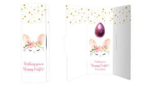 Bunny Face Personalised Easter Chocolate Card