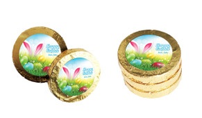 Bunny In The Meadow Custom Easter Chocolate Coins