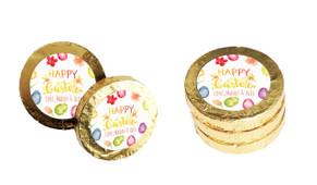 Watercolour Eggs Custom Easter Chocolate Coins