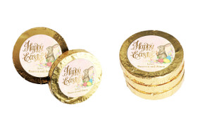 Beautiful Bunny Custom Easter Chocolate Coins