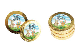 Bunny And Basket Custom Easter Chocolate Coins