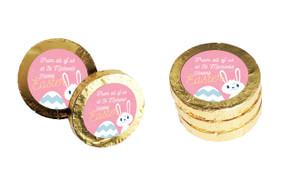 Funny Bunny Custom Easter Chocolate Coins