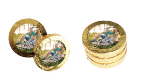 A Happy Easter With Photo Custom Easter Chocolate Coins