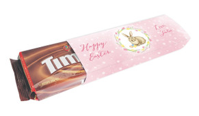 Pink Floral Bunny Personalised Packet Of TimTams TM