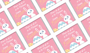 Funny Bunny Easter Personalised Mini Chocolates