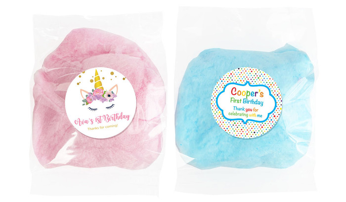 Personalised Bags Of Fairy Floss