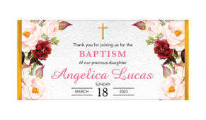 Pink Masala Personalised Christening Chocolate Bar