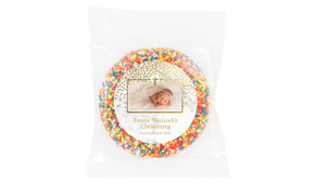 Gold Confetti On Marble Custom Christening Freckle