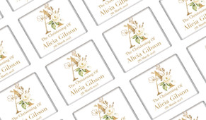 Monogram Rose Christening Mini Chocolates