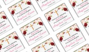 Pink Masala Personalised Christening Mini Chocolates