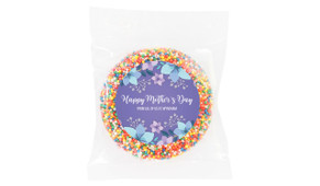 Dusk Flowers Personalised Mother's Day Chocolate Freckle