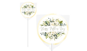 White Roses Mother's Day Personalised Lollipop