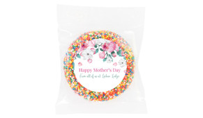 Falling Petals Mother's Day Personalised Chocolate Freckle