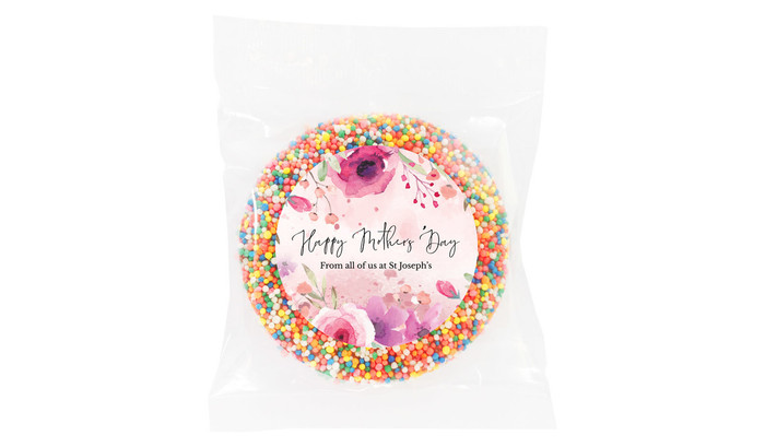 Floral Watercolour Mother's Day Personalised Chocolate Freckle