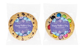 Dusk Flowers Personalised Mother's Day Cookie