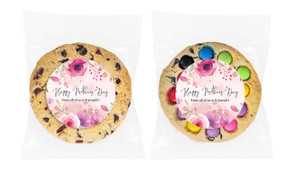 Floral Watercolour Mother's Day Personalised Day Giant Cookie