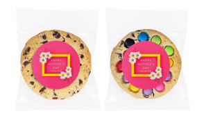 Daisies on Pink Mother's Day Personalised Day Cookie