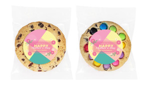 Bold Colours Mother's Day Personalised Day Giant Cookie